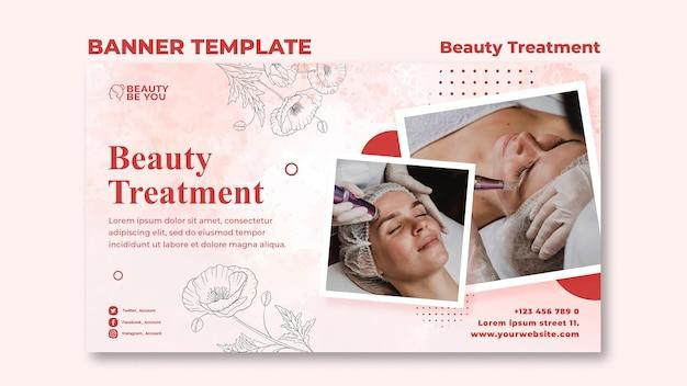Banner de tratamiento de belleza