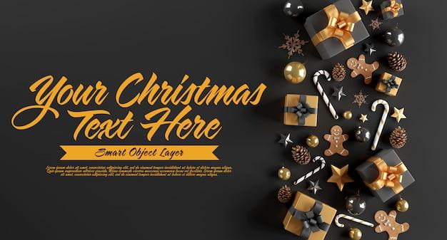 Banner van een kersttafereel