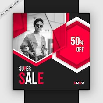 Banner de venta cuadrado para instagram