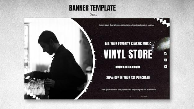 Banner vinyl winkel sjabloon