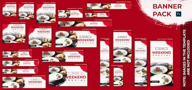 Banner voedsel set