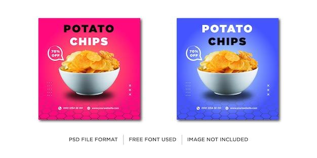 Banner voor aardappelverkoop op sociale media