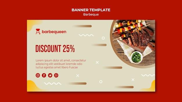 Banner voor barbecue restaurant
