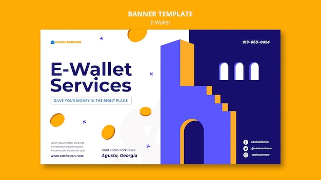 Banner voor e-walletservices