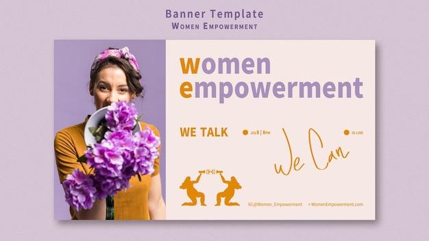 Banner voor empowerment van vrouwen
