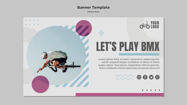 Banner voor extreme sporten