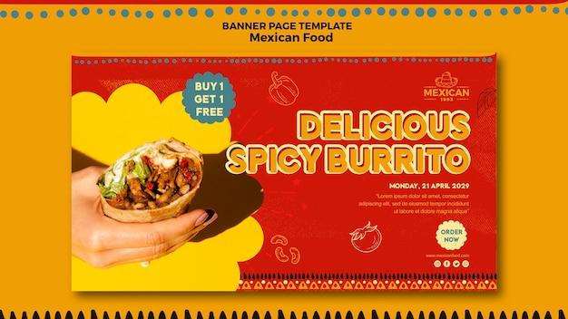 Banner voor mexicaans eten restaurant
