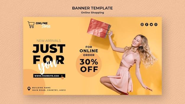 Banner voor online modeverkoop