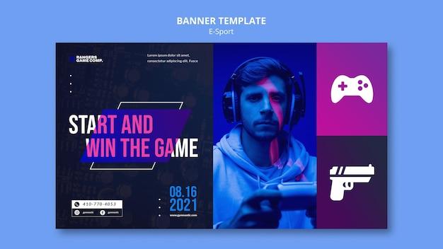 Banner voor videogamespeler