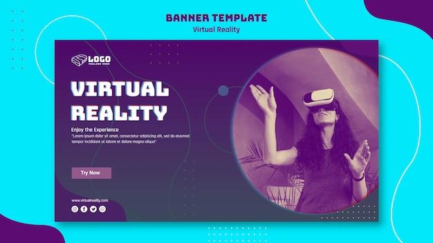 Banner voor virtuele realiteit