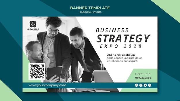 Banner voor zakelijke expo