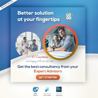 Banner web de agencia de marketing