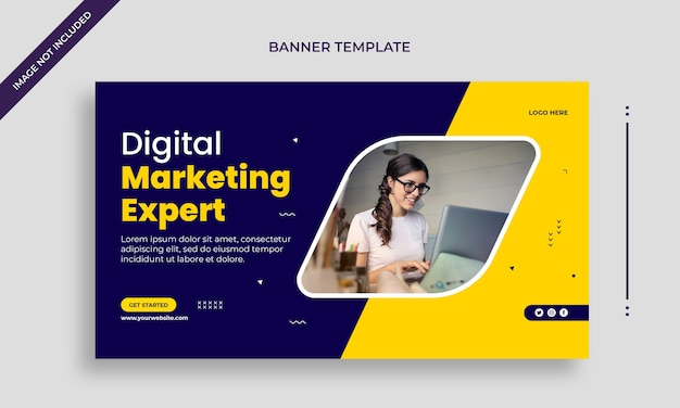 Banner web agenzia di affari aziendali o modello di banner di social media