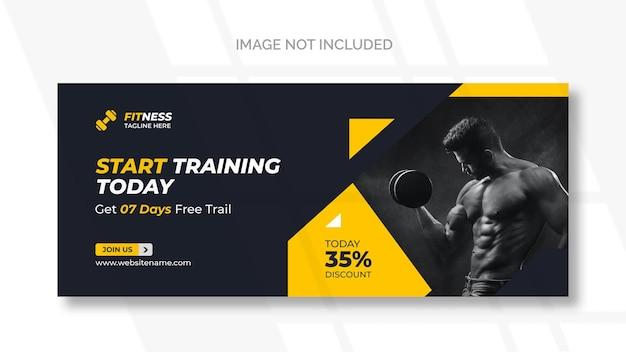 Banner web de fitness o plantilla de redes sociales