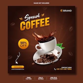 Banner web promozionale di vendita di menu di cibo speciale o modello di banner di instagram