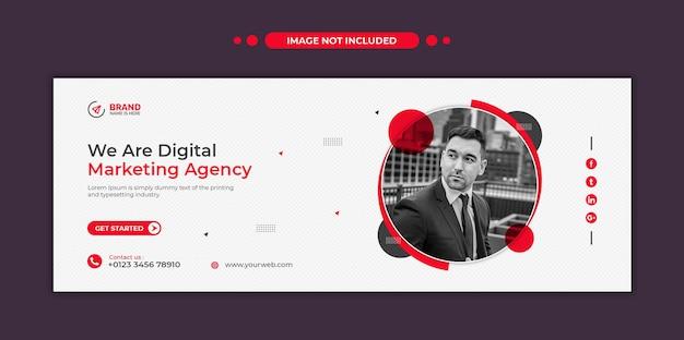 Banner web de redes sociales de agencia de marketing digital o plantilla de volante cuadrado