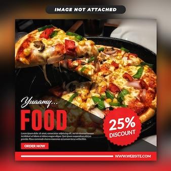 Banner de web social de alimentos de instagram