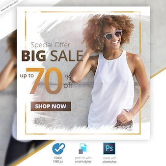 Banner web social media di vendita speciale