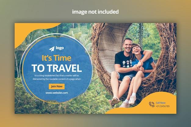 Banner web de viaje