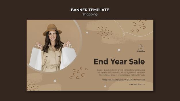 Banner winkel verkoop sjabloon