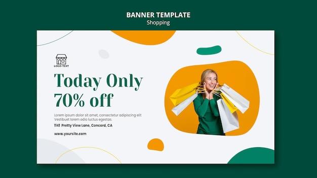 Banner winkelen verkoopsjabloon