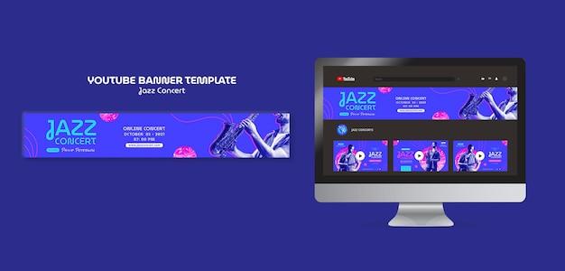 Banner de youtube de concierto de jazz