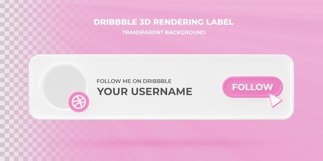 banner zoekpictogram dribbelen 3d-rendering banner geïsoleerd