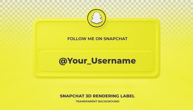 banner zoekpictogram snapchat 3d-rendering banner geïsoleerd