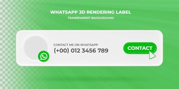 Banner zoekpictogram whatsapp 3d-rendering banner geïsoleerd