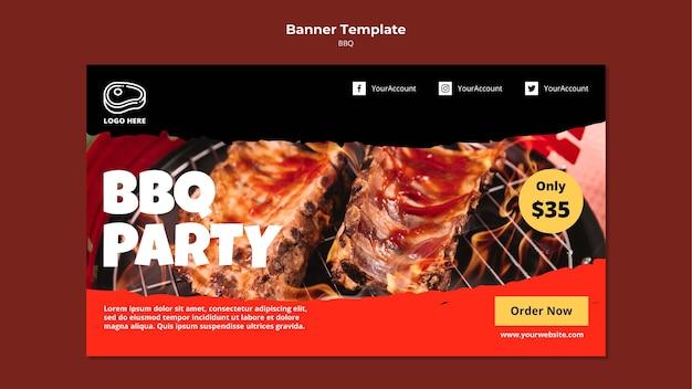 Bannermalplaatje met barbecueontwerp