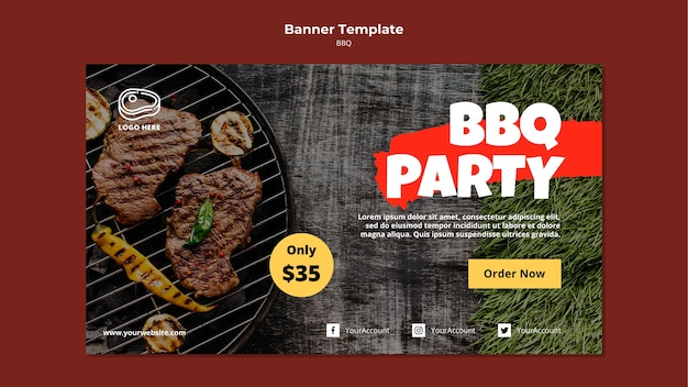 Bannermalplaatje met barbecuesjabloon