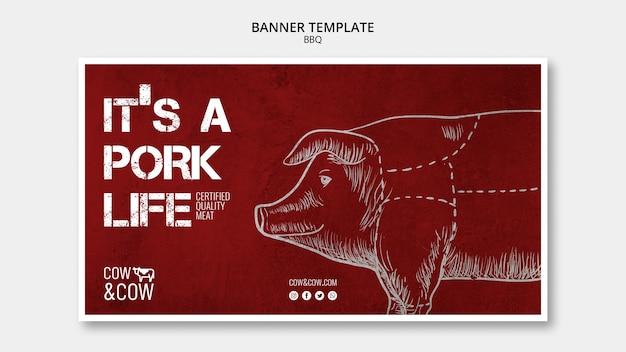 Bannermalplaatje met bbq-concept