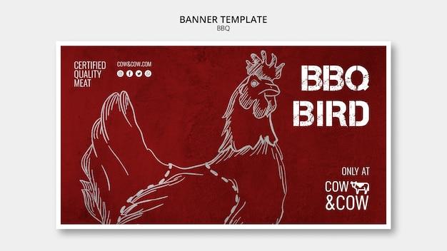 Bannermalplaatje met bbq-ontwerp