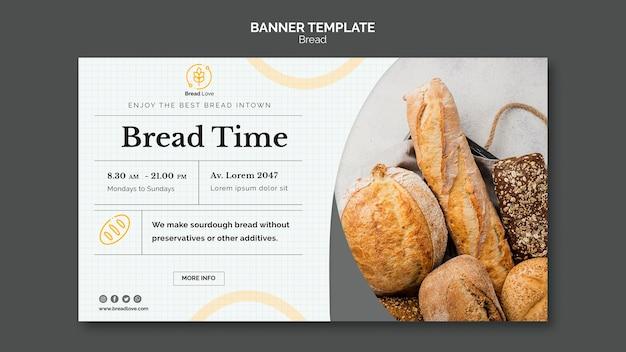 Bannermalplaatje met brood