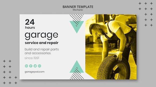 Bannermalplaatje met mechanisch concept