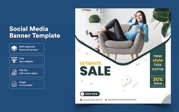 Bannermalplaatje van verkoop voor sociale media