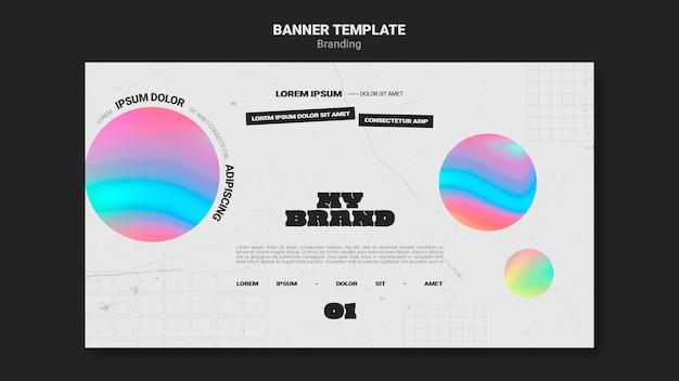 Bannermalplaatje voor bedrijfsbranding met kleurrijke cirkelvorm