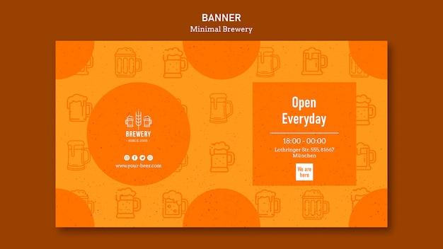 Bannermalplaatje voor bierproeverij