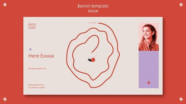 Bannermalplaatje voor grafisch ontwerper