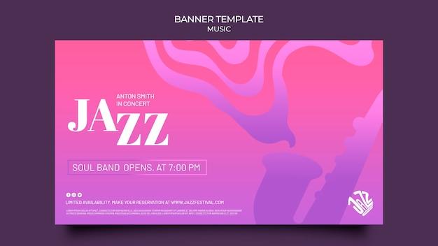 Bannermalplaatje voor jazzfestival en club