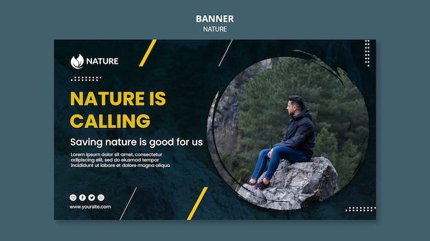 Bannermalplaatje voor natuurbescherming en -behoud