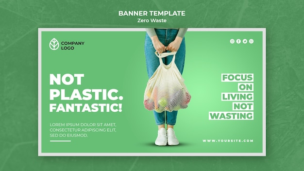 Bannermalplaatje voor nul afval