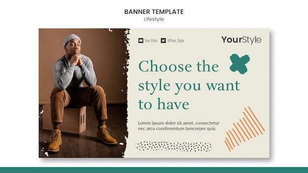 Bannermalplaatje voor persoonlijke levensstijl