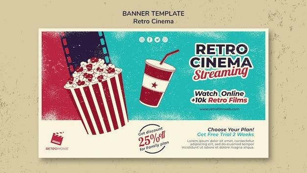 Bannermalplaatje voor retro bioscoop