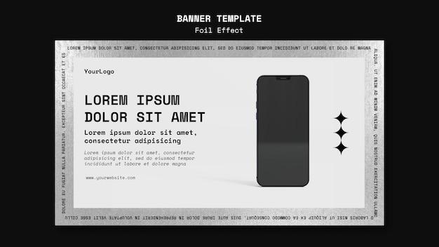 Bannermalplaatje voor technologie met folie-effect