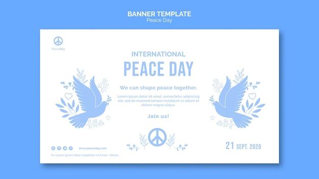 Bannermalplaatje voor vredesdag