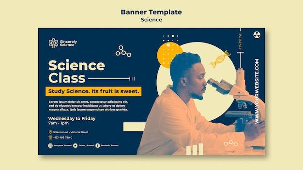 Bannermalplaatje voor wetenschapsklas