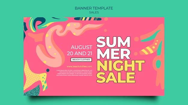 Bannermalplaatje voor zomerverkoop