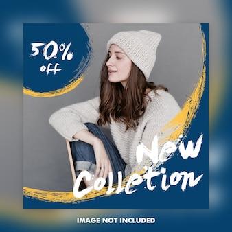 Banners de anuncios de publicación de instagram de moda