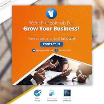 Banners sociales de marketing de negocios